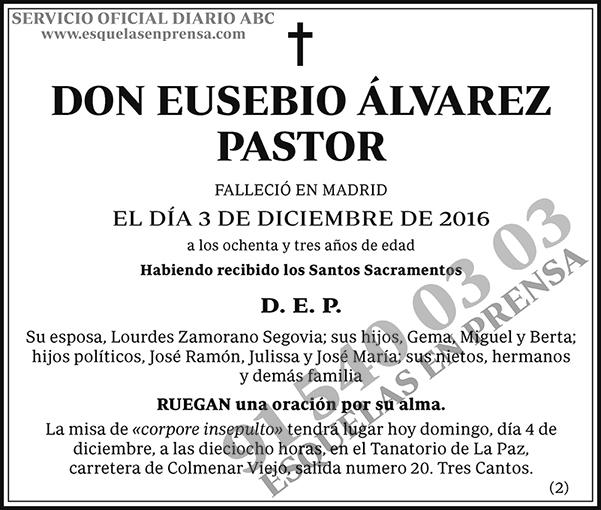 Eusebio Álvarez Pastor